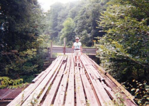 1992 August Cedar Creek Gorge Bridge Pre Const Bob Cupp (1)