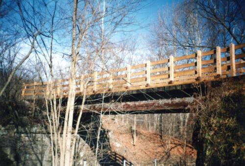 1993 December Cedar Creek Gorge Bridge Post Const 0005 a