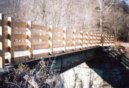 1993 December Cedar Creek Gorge Bridge Post Const 0008 a