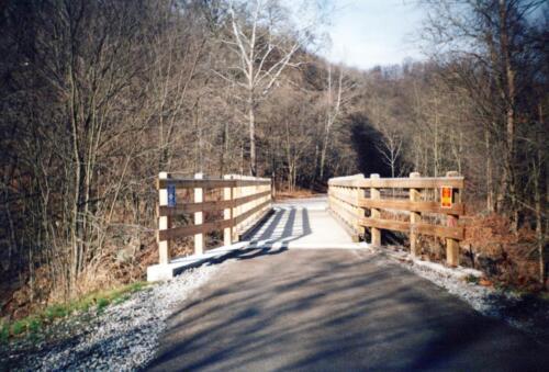 1993 December Cedar Creek Gorge Bridge Post Const 0009 a