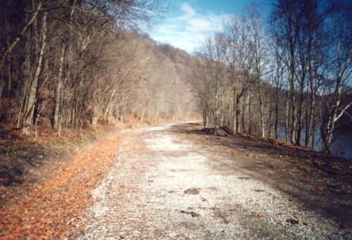 1993 December Cedar Creek Gorge Bridge Post Const 0010 a