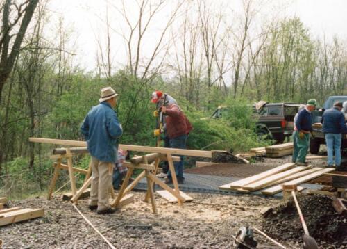 1998 April Campbells Run Bridge Volunteer Const 0008 a