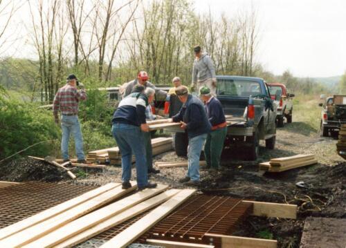 1998 April Campbells Run Bridge Volunteer Const 0009 a