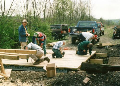 1998 April Campbells Run Bridge Volunteer Const 0016 a