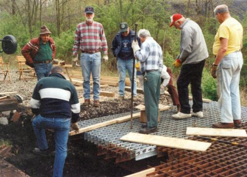 1998 Campbells Run Bridge Volunteer Const 0001 a