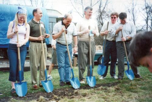 2001 April West Newton Station-Railcar Ceremony 0006 a