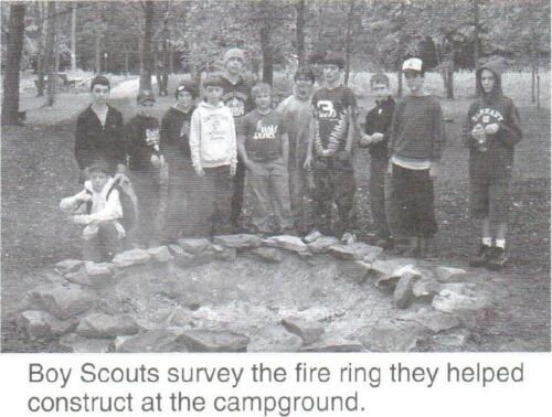 Boy Scout Volunteers at Roundbottom Campground