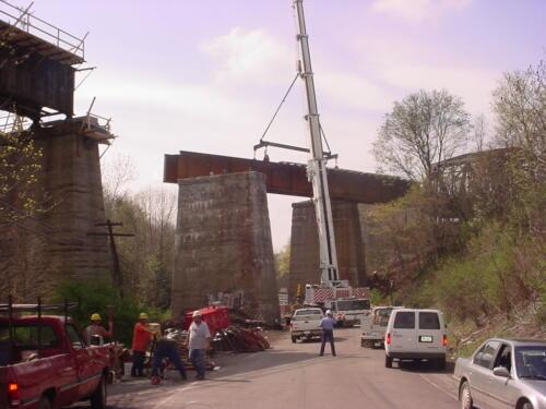 Keystone Viaduct Girder Placement- 004