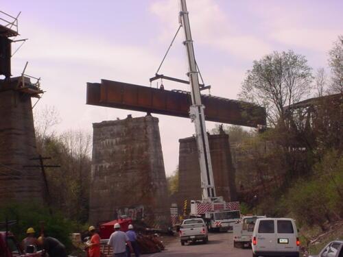 Keystone Viaduct Girder Placement- 006