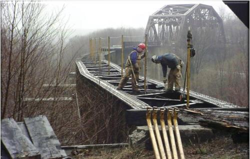 Keystone Viaduct Girder Placement- 015