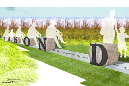 MD Line Park-sitting stones