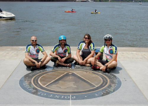 Point marker with DC cyclists 1