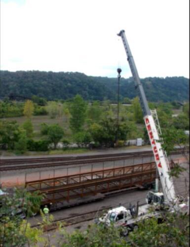 Port Perry 003 crane w prefab bridge