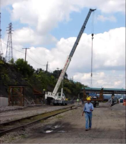 Port Perry 006 crane lifting bridge