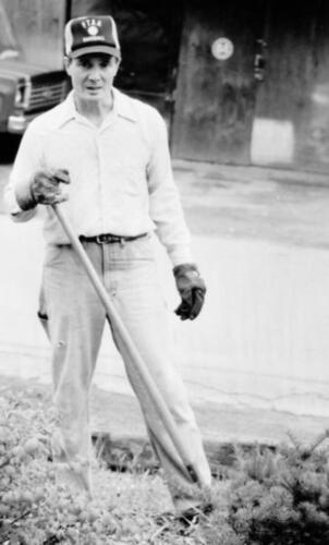 Ron working on landscaping (no date) 2